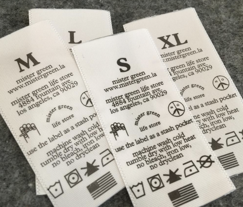 Printed Care Labels