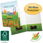 Promotional products: Economical four color process printed folders