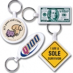Promotional products: Soft flexible key tags - geometric shapes