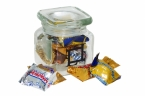 Promotional products: Square jar  with stock candies