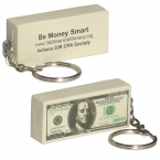 Promotional products: $100 bill key chain