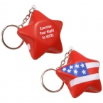 Promotional products: Patriotic star key chain
