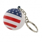 Promotional products: Patriotic stress ball key chain