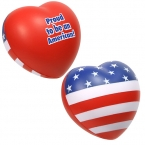 Promotional products: Patriotic valentine heart