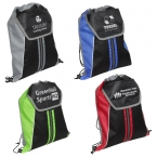 Promotional products: CENTER LINE DRAWSTRING BACKPACK