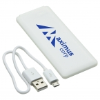 Promotional products: TRIM-LINE POWER BANK WHITE