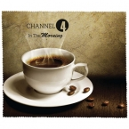 Promotional products: PREMIUM MICROFIBER CLEANING CLOTH - COFFEE