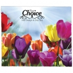 Promotional products: PREMIUM MICROFIBER CLEANING CLOTH - FLOWERS