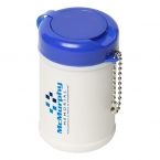 Promotional products: TRAVEL WELL SANITIZER WIPES KEY CHAIN