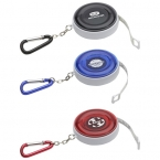 Promotional products: CARABINER ROUND TAPE MEASURE