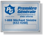 Promotional products: .020 Stainless Steel Metal Plates for outdoor use / rectangle with square corners (9.1 to 12 square inches) Screen-printed