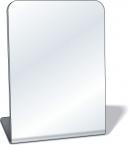 Promotional products: .080 Standing Acrylic Safety Plastic Mirror / rectangle with round corners (3