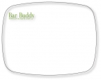 Promotional products: The Bar Buddy is a Flexible Cutting Board on FDA approved .030 clear plastic, rectangular  (5.75