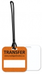 Promotional products: .020 White Gloss Vinyl Plastic Custom Luggage Tag up to 7 sq/in / loop attached; Four color process
