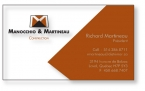 Promotional products: .020 Clear Matte PVC Business Cards (2