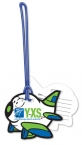 Promotional products: Custom Write-On Luggage Tag .020 white vinyl plastic up to 7 sq/in / loop attached; Four color process