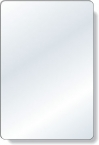 Promotional products: .040 Shatterproof Copolyester Plastic Mirror / with magnetic back (4