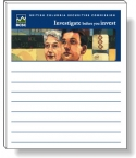 Promotional products: 50 Sheet Magnetic Note Pads (3.5