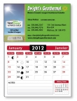 Promotional products: 14 pt Card stock Business Card with adhesive back and stock calendar pad attached, square corners (2