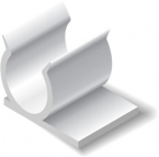 Promotional products: White Plastic Pen Clips (.5