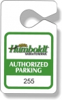 Promotional products: .020 Stock Shape White Gloss Vinyl Plastic Parking Tags (2.4
