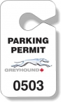 Promotional products: .020 Stock Shape White Gloss Vinyl Plastic Parking Tags (2.75