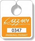 Promotional products: .020 Stock Shape White Gloss Vinyl Plastic Parking Tags (3.125