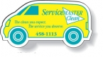 Promotional products: .020 Stock Shape Magnets / Van (1.45