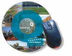 Promotional products: Slimline Mousemats™ with clear textured vinyl front & repositionable non-skid back / Round (7.85