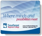 Promotional products: Slimline Mousemats™ with clear textured vinyl front & repositionable non-skid back / Rectangle (7.25
