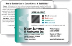 Promotional products: .010 White Gloss Vinyl Plastic Card *Special / with Stress Indicator (2.125