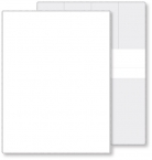Promotional products: Econo White Portfolio Warrenty holder, open size (9.56