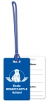 Promotional products: .020 White Gloss Vinyl Luggage Tags / with back imprint and write-on surface included (2.125
