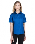 Promotional products: NEW FUSE LADIES' COLOR-BLOCK TWILL SHIRTS