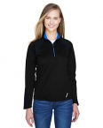 Promotional products: RADAR LADIES' HALF-ZIP PERFORMANCE LONG SLEEVE TOP