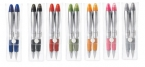 Promotional products: Silver blossom pen/highlighter &pencil/eraser set
