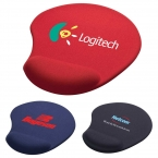 Promotional products: Solid Jersey Gel Mouse Pad / Wrist Rest