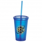 Promotional products: Iceberg 16-oz. Tumbler with Straw
