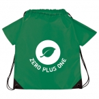 Promotional products: The T-Shirt Drawstring Cinch Backpack