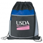 Promotional products: The Highway Drawstring Cinch Backpack