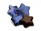 Promotional products: Chocolate stars in blue foil