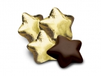 Promotional products: Chocolate stars in gold foil