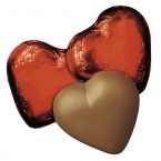 Promotional products: Hearts in red foil