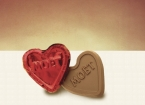 Promotional products: Foiled chocolate heart