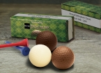 Promotional products: Custom printed golf box with chocolate golf balls