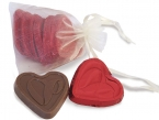 Promotional products: Organza bag with custom foiled hearts