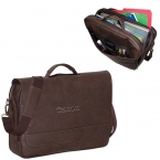 Promotional products: PREMIUM BONDED LEATHER LAPTOP BRIEF