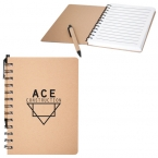 Promotional products: RECYCLED CARDBOARD NOTEBOOK
