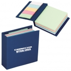 Promotional products: 250 SHEET MEMO BOOK WITH 125 STICKY NOTES