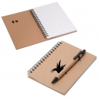 Promotional products: KELOWNA CARDBOARD NOTEBOOK